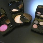 Chanel powder blush Pink explosion, Les Beiges healthy glow sheer powder, Jardin Zen quadra eye shadow