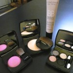 Chanel powder blush Pink explosion, Les Beiges healthy glow sheer powder, Guerlain lingerie de peau BB cream, Chanel Jardin Zen quadra eye shadow